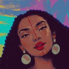 "Black Women Art! — ""Afro neon"" by Zara Jumabai Black Women Art, Black Art, Natural Hair Art, Natural Hair Styles, Female Art, Afro, Disney Characters, Fictional Characters, Childhood"
