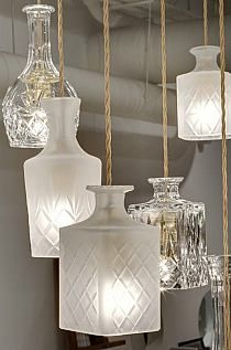 cutted bottles lamps