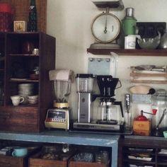 アンティーク/懐かしい風景/コーヒーメーカー/リメイク/男前/収納…などのインテリア実例 - 2014-10-20 15:03:58 | RoomClip(ルームクリップ)