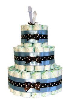 Plienková torta Bodkovaná veľká modrá