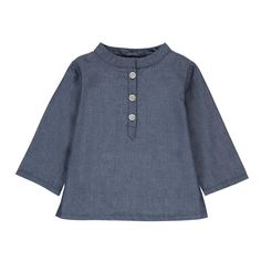 Cove Chambray Striped Organic Cotton Kurta Nui Baby Children- A large selection of Fashion on Smallable, the Family Concept Store - More than 600 brands.