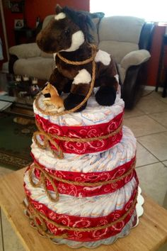 Western Diaper Cake-My 3rd one I've made,for my friends daughter..