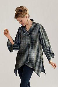 Linen New Moon Shirt: Lynn Mizono: Linen Shirt - Artful Home