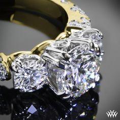 """Petite Champagne"" Diamond Engagement Ring"