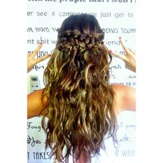 Copy Selena Gomez and Nina Dobrev's cool halo braid ❤ liked on Polyvore