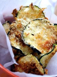 Can you say yummy!!! These oven baked zucchini chips and outrageously delicious! I mean come on they're chips, how can they not taste great! Not to mention they are healthy.