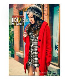 Women/Girl Red Single-Breasted Thickened Loose Free Size Knitting Sweater@T882r