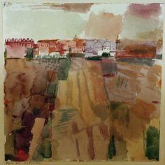 """""""Kairouan"""" (1914). PAUL KLEE (1879 - 1940). Artista suizo y profesor de la BAUHAUS. En abril de 1914, realiza un viaje decisivo de dos semanas a TÚNEZ del que contaría """" .. El color me posee. No tengo que buscarlo. Me tiene para siempre, lo sé (...) yo y el color somos uno. Soy pintor ...""""."""