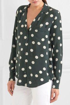 e2d3faa81bf7d Equipment - Keira polka-dot washed-silk shirt