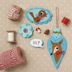 Retro bauble Christmas decorations | Mollie Makes | Bloglovin'