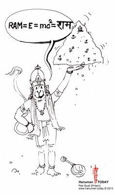 Tuesday, July 7, 2015 Daily drawings of Hanuman / Hanuman TODAY / Connecting with Hanuman through art / Artwork by Petr Budil [Pritam] www.hanuman.today
