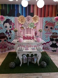 Lol Surprise Dolls Birthday Party! See more party ideas and share yours at CatchMyParty.com #catchmyparty #partyideas #lolsurprisedollsbirthdayparty #lolsurprisedollsbirthdaycake