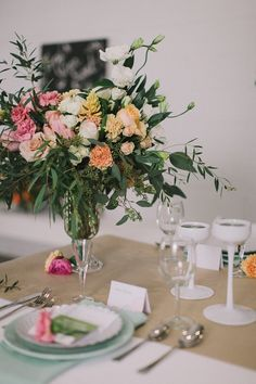 Styled shoot with @All & Sundry. Florals by Celsia Florist.