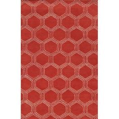 Meridian Rugmakers Sardinia Hand-Tufted Red Area Rug Rug Size: 8' x 10'