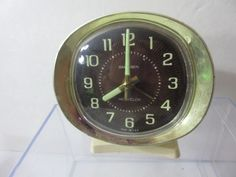 Vintage Baby Ben Westclox Alarm Clock Dark Face Pedestal For Repair/Parts Deco #Westclox