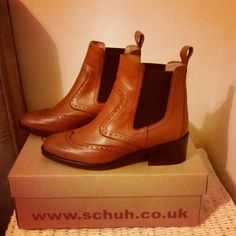 schuh Downtown tan ankle boots  @lauriejane13