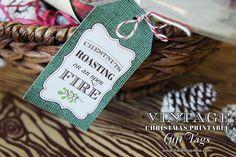 Vintage Christmas Printable Gift Tags #christmas #jinglebells #holidays #kerst #xmas #godjul #boenderpint