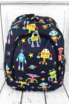 ROBOTS IN SPACE LARGE BACKPACK, $21.95