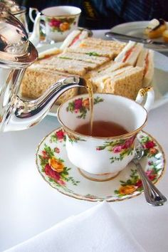 High Tea and Sandwiches
