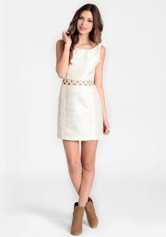 Eternal Light Lattice Cutout Dress