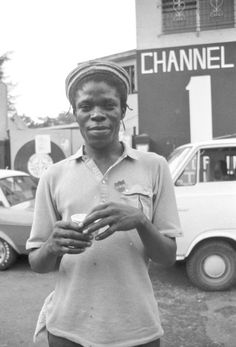 DILLINGER in front of Channel One studio in Kingston, J.A.