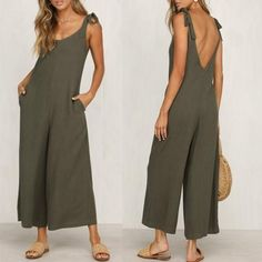 Fashion Halter Sleeveless Wide Leg Jumpsuit – yoyolike SPECIFICATIONS: Product Name Fashion Halter Sleeveless Wide Leg Jumpsuit Brand yoyolike SKU Gender Women Style Casual/Fashion Occasion Date Material Cotton Sleeve Sleeveless Decoration Plain Urban Fashion, Fashion Looks, Womens Fashion, Fashion Tips, Fashion Brands, Fashion Online, Space Fashion, Fashion Websites, Fashion 2018