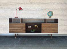 Credenza 104  Danish Modern Inspired  Solid Walnut  by STORnewyork