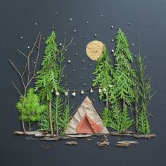 love this landscape diorama idea for kids | kids crafts | art for kids | outdoor art