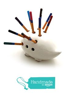 Porcupine / Hedgehog Pencil Holder from Lennymud https://www.amazon.com/dp/B01EM4GERW/ref=hnd_sw_r_pi_dp_8ygaybRRMFBNY #handmadeatamazon