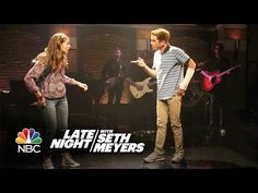 """Ben Platt and Laura Dreyfuss perform """"Waving Through a Window"""" from the Broadway show Dear Evan Hansen for Late Night with Seth Meyers. Theatre Nerds, Musical Theatre, Theater, Laura Dreyfuss, Ben Platt, Broadway News, Seth Meyers, Dear Evan Hansen, I Love Him"""
