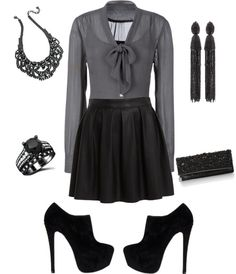 """""""New Year's Black"""" by ubeufashion on Polyvore"""