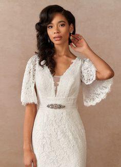 Azazie Linnea BG Wedding Dresses   Azazie Elven Wedding Dress, Perfect Wedding Dress, Wedding Gowns, Wedding Bells, Wedding Styles, Wedding Ideas, Wedding Stuff, Types Of Dresses, Custom Dresses