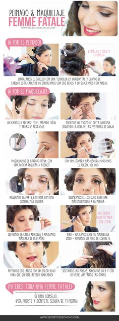 Peinado y maquillaje femme fatale