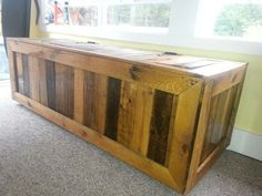 Pallet furniture chest.  Made this out of pallets  http://www.calgary.isgreen.ca