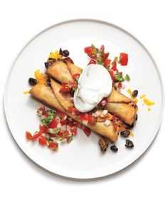 Bean and Cheese Taquitos | Throw a fiesta in your home with recipes for tacos, enchiladas, empanadas, and more.