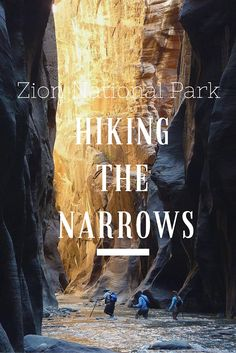 The Narrows in Zion National Park is one of the premier hikes in Utah. Read about my experience by visiting the blog: http://jannaonajaunt.com/hiking-the-narrows-zion-national-park/