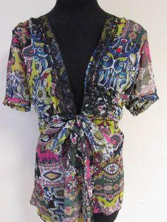 #Sheer #Floral #Blouse Tunic #Small #CAbi #Tunic #Casual #Fashion #Apparel #Shopping #eBay