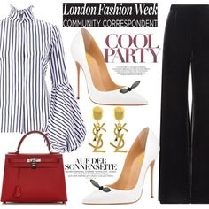FSJ OFFICE PUMPS FOR OL by fsjamazon on Polyvore featuring Roland Mouret, Hermès and Yves Saint Laurent
