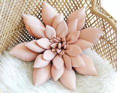 Succulent Pillow in Light Blush Pink, Succulent, Cactus Pillow, Boho Nursery Decor, Southwest Nurser Boho Nursery, Whimsical Nursery, Nursery Decor, Girl Nursery, Green Pillow Cases, Throw Pillow Cases, Throw Pillows, Pink Succulent, Natural Pillows