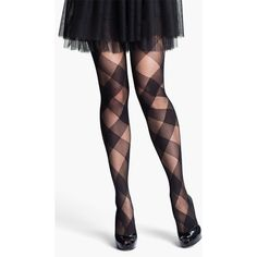 Nordstrom 'perfect Plaid' Tights ($15) ❤ liked on Polyvore