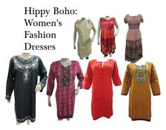 """Boho Fashion Dresses"" by mogulstore ❤ liked on Polyvore featuring moda"