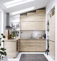 METOD keuken | IKEAcatalogus nieuw 2018 IKEA IKEAnl IKEAnederland ASKERSUND deur deurtje ladefront frontje essenpatroon MAXIMERA lade koken eten BLANKETT handgrepen