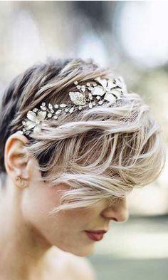 свадебные прически с челкой на короткие волосы