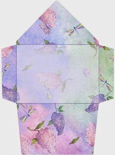 Flowers: Free Printable Envelopes.