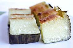 Kuih Bengka (Tapioca/Cassava Cake) | Nyonya Food & Recipes