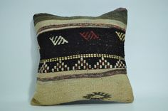 The pillow cover is designed & produced by us and is unused. The original rug is woven of wool. The backing is cotton fabric.   eBay!