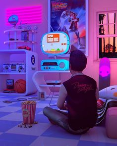 aestethic vaporwave Denny Busyet Official Site of Visual Artist Denny Budi Susetyo Inspired by / Aesthetics Nostalgia Fueled by Synthwave Cyberpunk Aesthetic, Neon Aesthetic, New Retro Wave, Retro Waves, Retro Room, Retro Art, Vaporwave Art, Cool Animations, Arcade