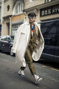 NYLON · Paris Fashion Week Street Style Day 7: Shine On