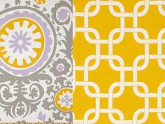 College Dorm Bedding Reversible  Duvet and Sham Suzani Purple and Yellow