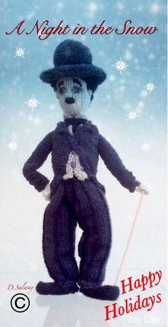 #Advent #charliechaplin #anightinthesnow #knitted #doll
